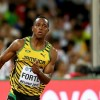 BEIJING, CHINA - AUGUST 25:  (L-R) Brendon Rodney of Canada and Julian Forte of Jamaica compete in the Men's 200 metres heats during day four of the 15th IAAF World Athletics Championships Beijing 2015 at Beijing National Stadium on August 25, 2015 in Beijing, China.  (Photo by Cameron Spencer/Getty Images)