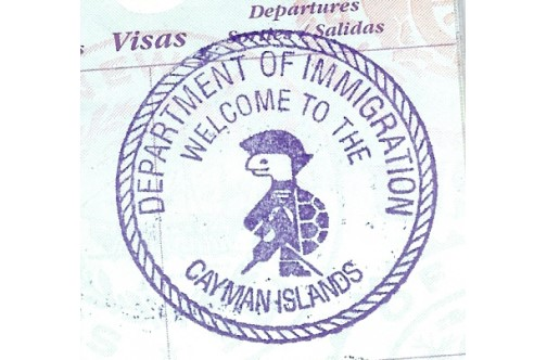 visa-stamp Cayman Islands