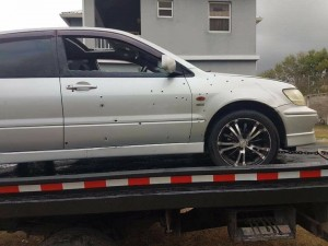 shot up car in nevis