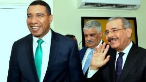 Andrew Holness - Jamaican Prime Minister and Danilo Medina - President Dominican Republic