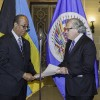 Sidney Collie  and OAS Secretary General Luis Almagro