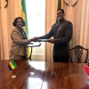 Ambassador of Gabon - Aichatou S. Aoudou and High Commissioner of St. Kitts & Nevis to the UK Dr. Kevin Issac