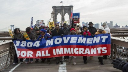 Haitians protest in NY