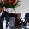 (L-R) Finance Minsiter Camillo Gonsalves and Prime Minister Dr. Ralph Gonsalves
