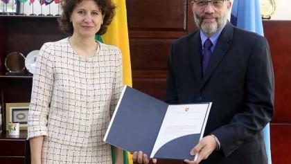 Credentials of new Ambassador of Lithuania to CARICOM 2018