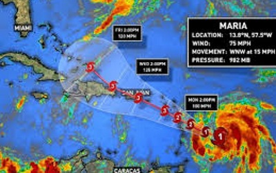 Strengthening Hurricane Maria closes in on Leeward Islands