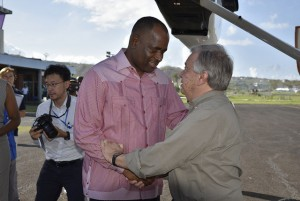 Skerrit and UN Sec. Gen