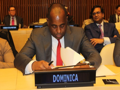 Dominica PM at UN