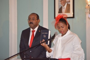 Maria Browne takes oath of office