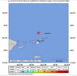 Earthquake jolts BVI