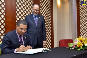 Holness signs CARICOM agreements