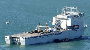 RFA Mounts Bay was helped out in the British Virgin Islands after Hurricane Irma. This year its regular civilian crew will be joined by 87 specialists