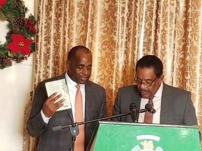 Prime Minister Skerrit sworn into office